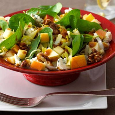 """Salad with Pomegranate Vinaigrette """"If you aren't a fan of blue ..."""