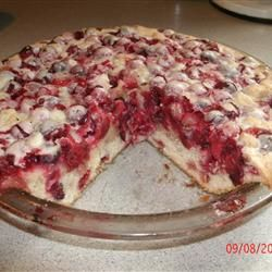 ... the work pie-making contest - Crustless Cranberry Pie Allrecipes.com