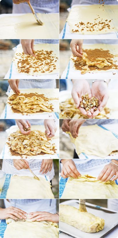 apple cinnamon and walnut strudel | dessert: pies, tarts, galettes, c ...