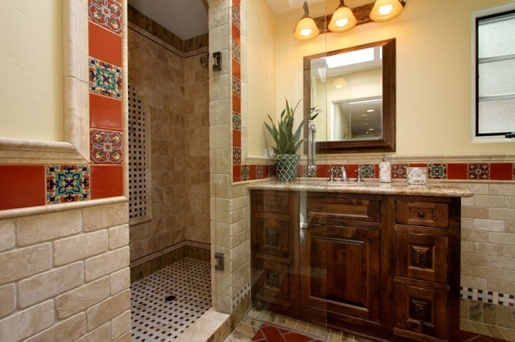 shower spanish bathroom pinterest