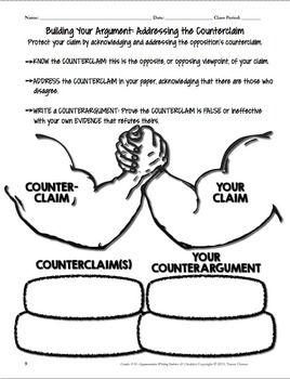 persuasive essay graphic organizer counter argument