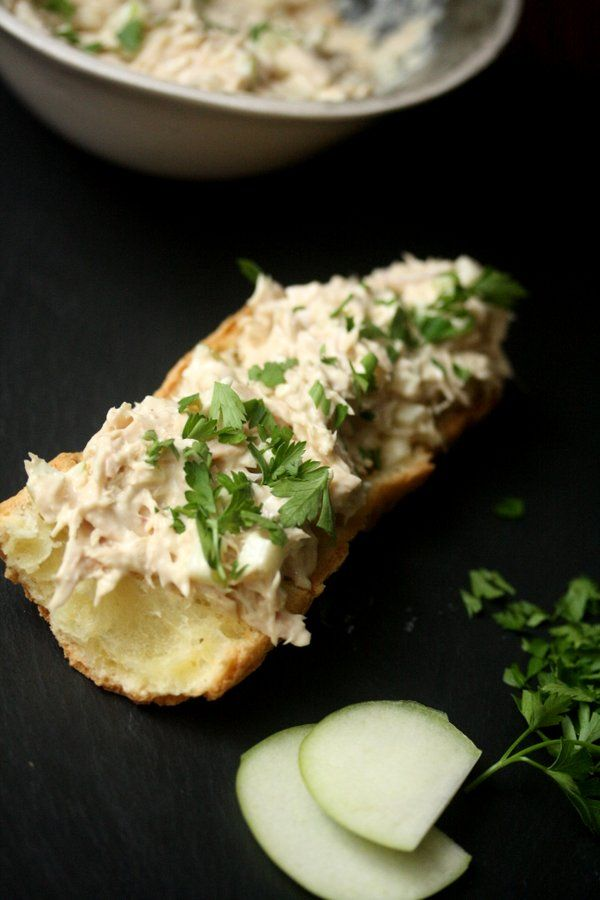 Feeding Friends: Tuna Salad Tartines with Apple and Shallots - Feed Me ...