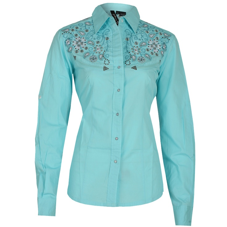 Cool Womens Embroidered Western Shirt  Canyon Flower
