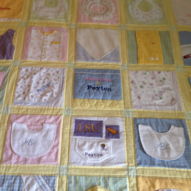 Quilt made out of baby clothes and blankets | Baby ...