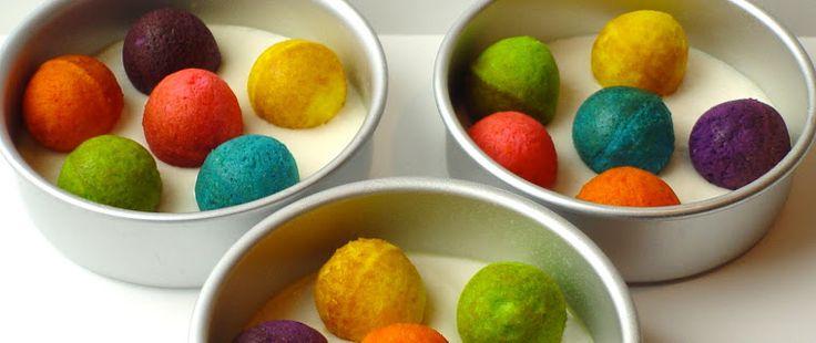 Hidden Design Cake Ideas : Once Upon A Pedestal Surprise Inside Cake Hidden Polka ...