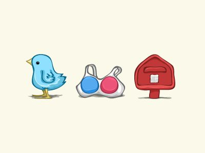 Social Icons by Leon Gao