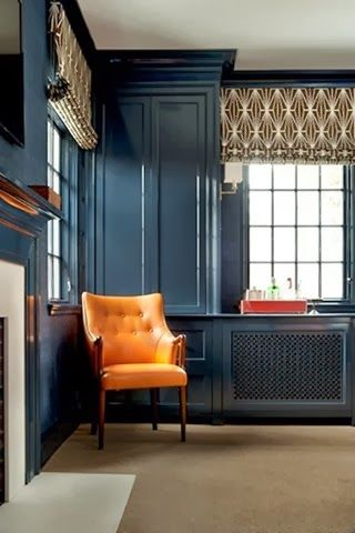 obsessed w. this paint color - farrow & ball hague blue.