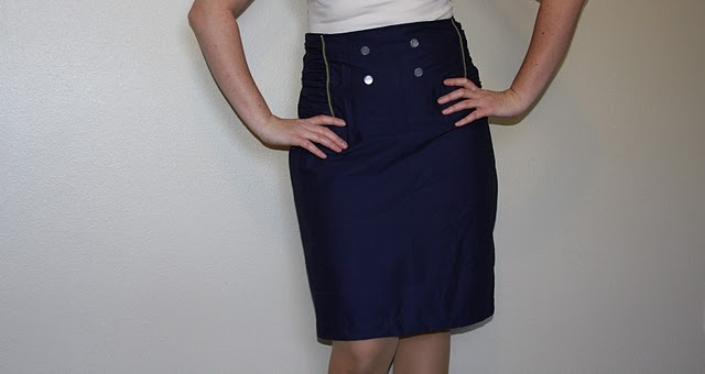 Military Pencil Skirt - tutorial