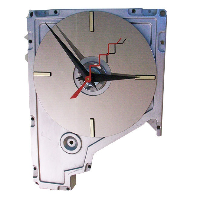early 1980s hard drive cover wall clock recycled hard drive now a fu. Black Bedroom Furniture Sets. Home Design Ideas