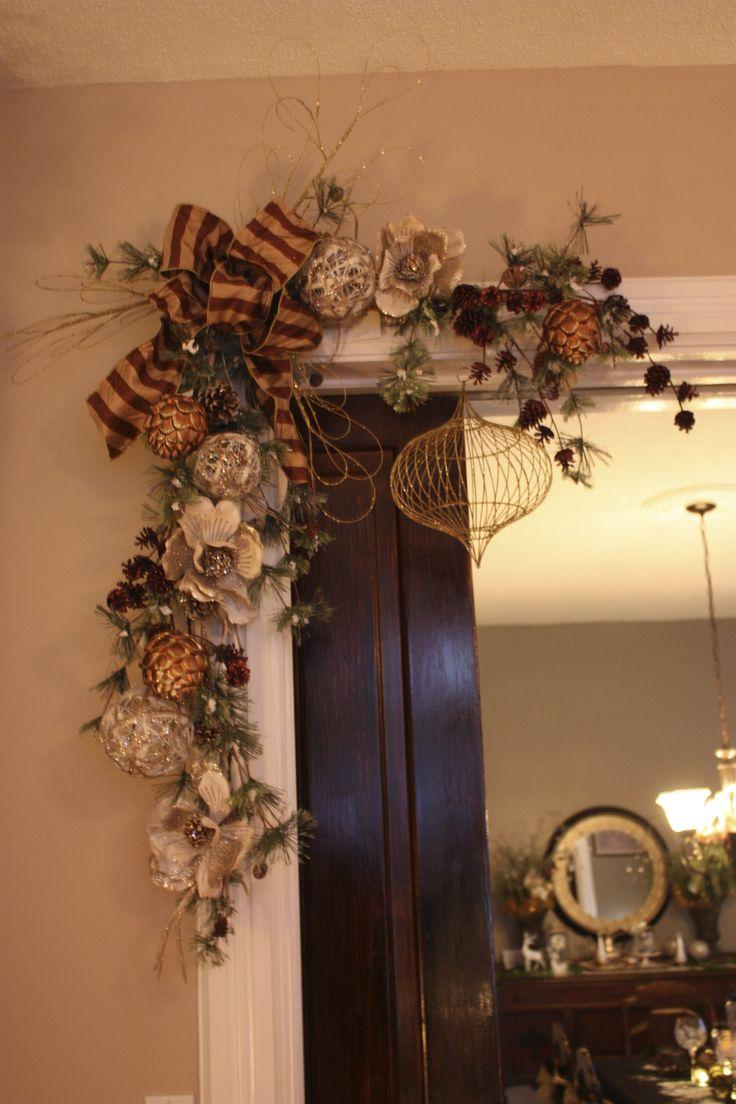 Arch garland christmas pinterest for Christmas arch diy