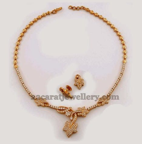 Indian Simple Gold Necklace Designs Pin by 22caratjeweller...