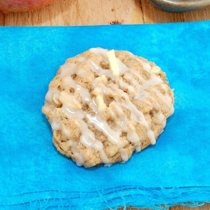 Apple Cinnamon Oatmeal Cookies with Apple Cider Glaze