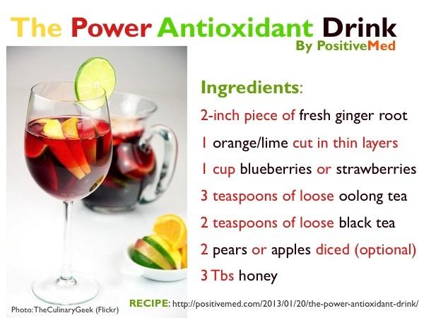 Good Health With an Antioxidant Drink