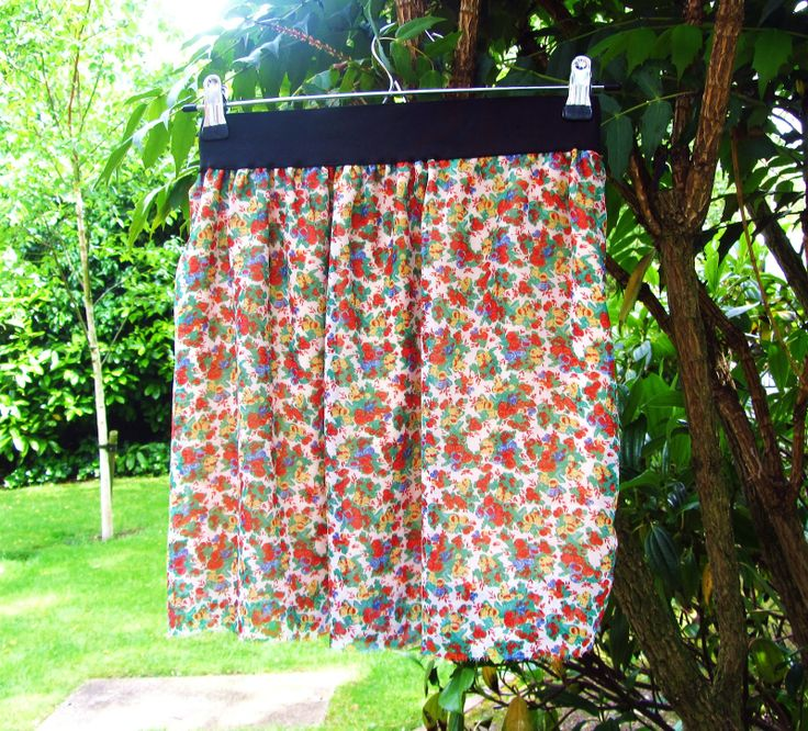 DIY Easy Pull On Skirt | Summer skirt, DIY, fashion, chiffon, flower print, easy , tutorial