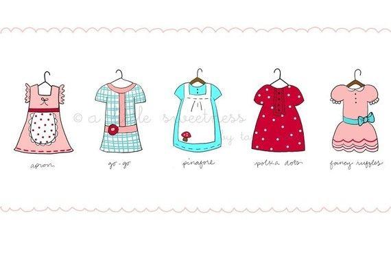 Favorite Dresses Illustration by alittlesweetness on Etsy, $15,00