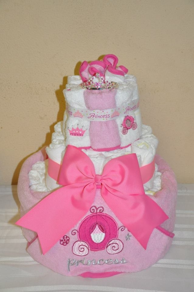 Princess baby towel diaper cake