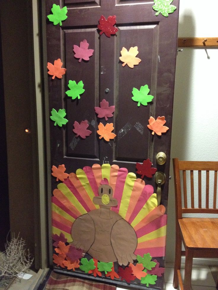 Thanksgiving Door Decoration Ideas Classroom : Thanksgiving door decorations party