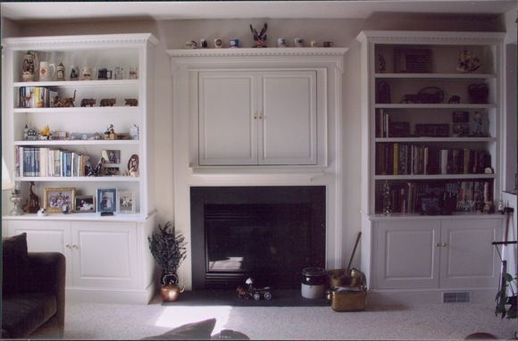 Unique Fireplace With Flanking Bookcases  Traditional  Baltimore  By Miles
