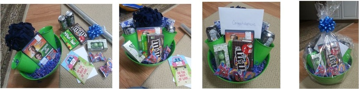 Wedding Gift Ideas Under USD30 : Date night gift basket under USD30: 1 blanket, 1 DVD, 2 drinks, 2 cups w ...