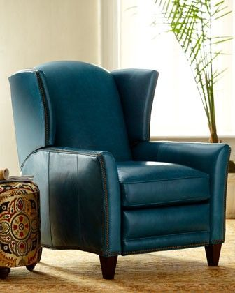 Blue recliner my love for chairs pinterest for Small teal chair