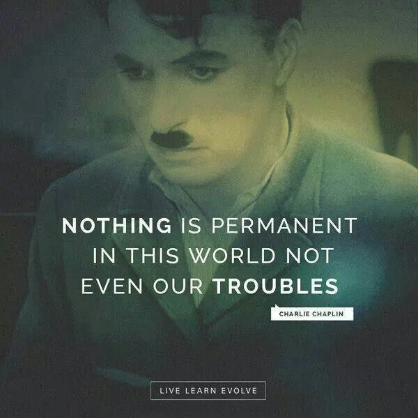 Charlie Chaplin Nothing Is Permanent Quote