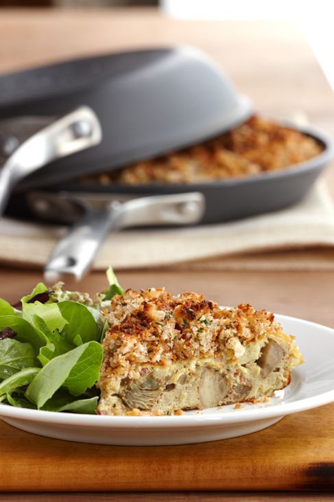 Artichoke-Pancetta Frittata with Crispy Breadcrumb Crust - asiago ...