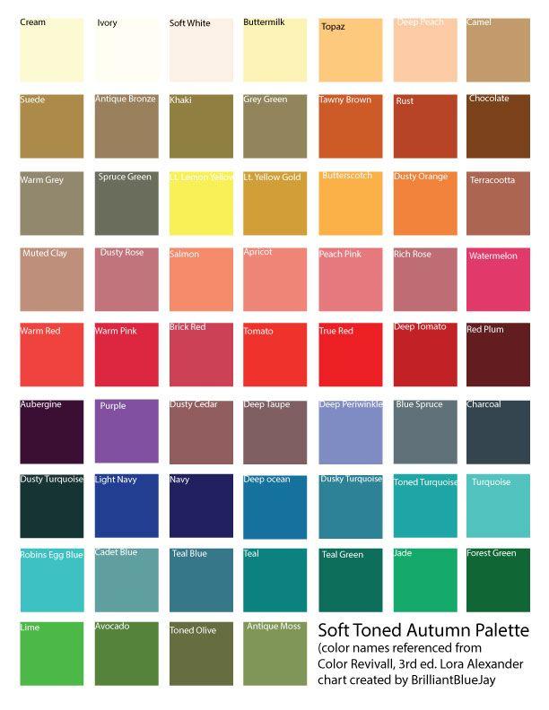Soft Autumn Color Palette Bing Images