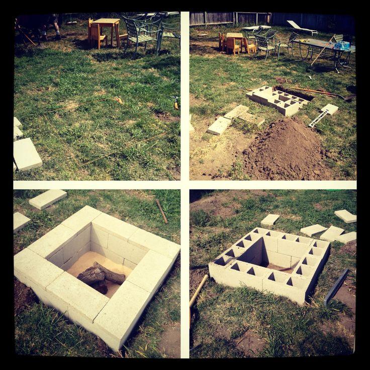 Backyard fire pit  outdoor space  Pinterest