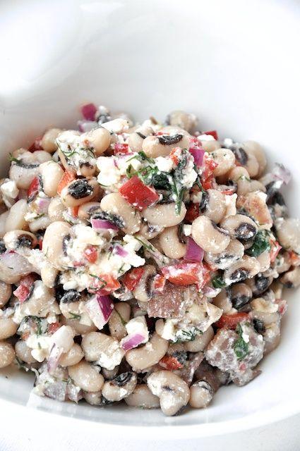 Greek Black Eyed Pea Salad!   salads   Pinterest