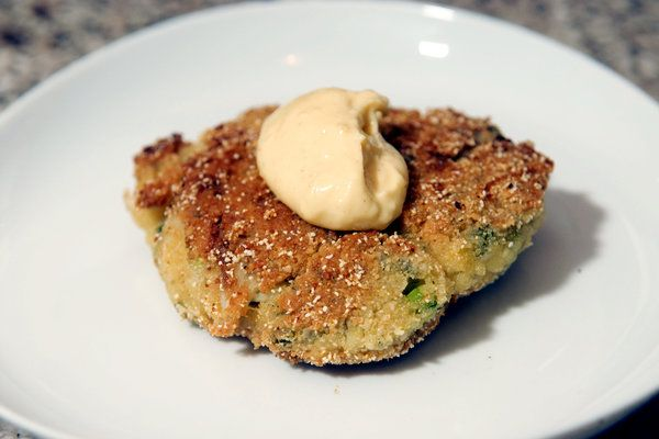 Almond Flour Crab Cakes with Lemon Aioli by Catherine Saint Louis