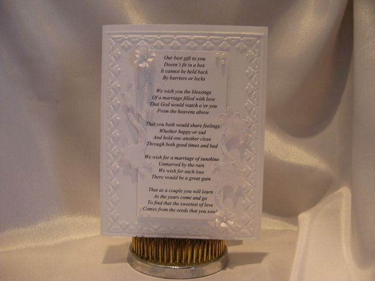 Wedding/Bridal Shower Card verse Verses for cards Pinterest
