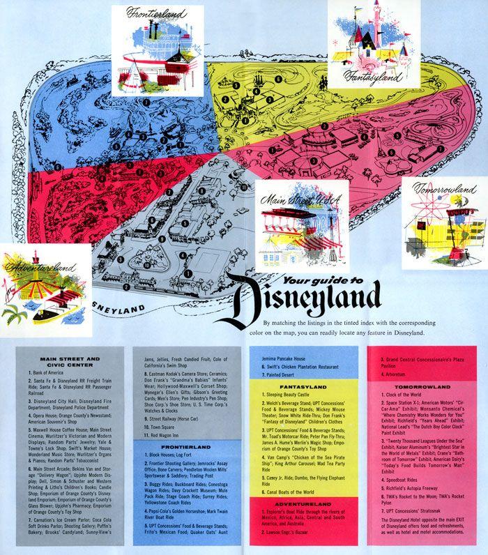 Disneyland 1955 Map 1955 Disneyland Map | ...