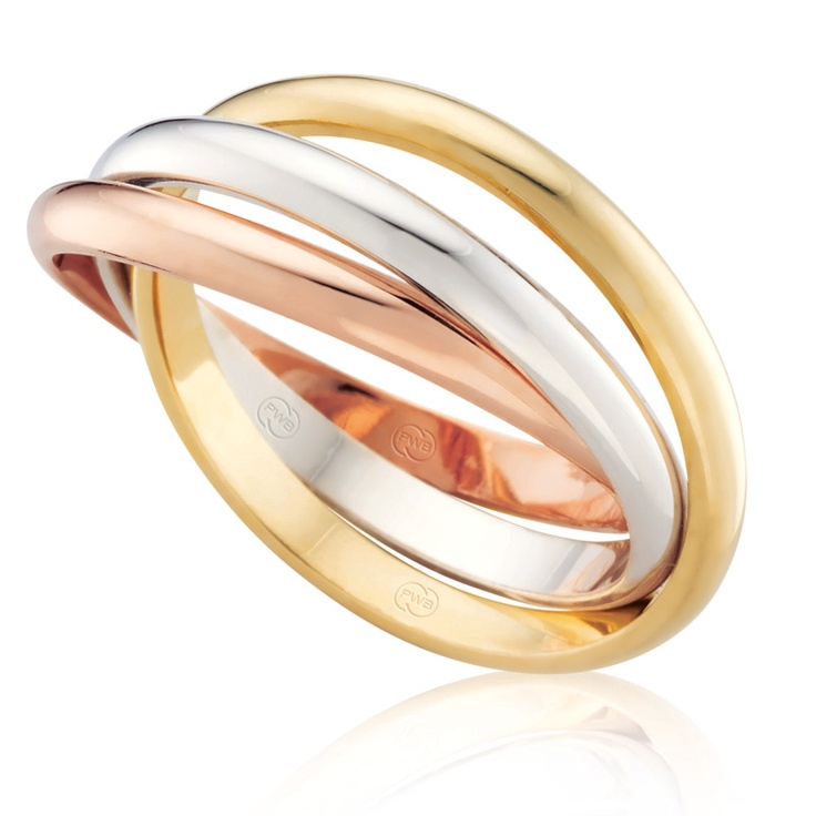 tri gold russian wedding band