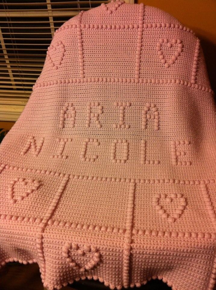 Crocheting Names On Blankets : Custom Name Afghan crochet blankets Pinterest