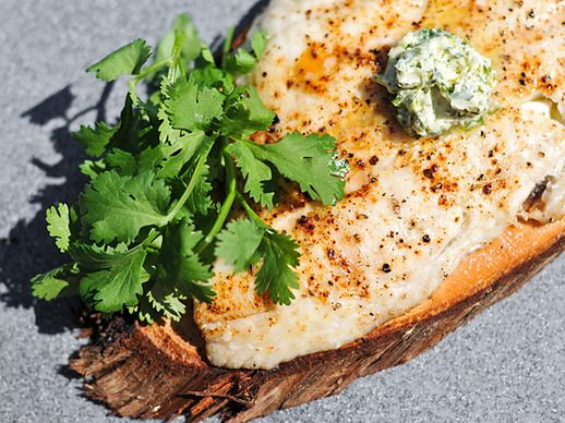 Grilling: Planked Whitefish with Cilantro-Lime Butter | Serious Eats ...