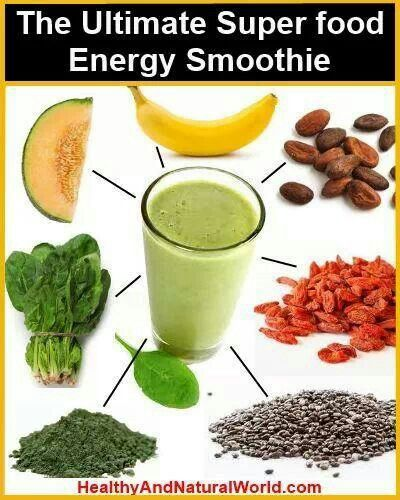 Energy smoothie | Smoothies and Juices | Pinterest