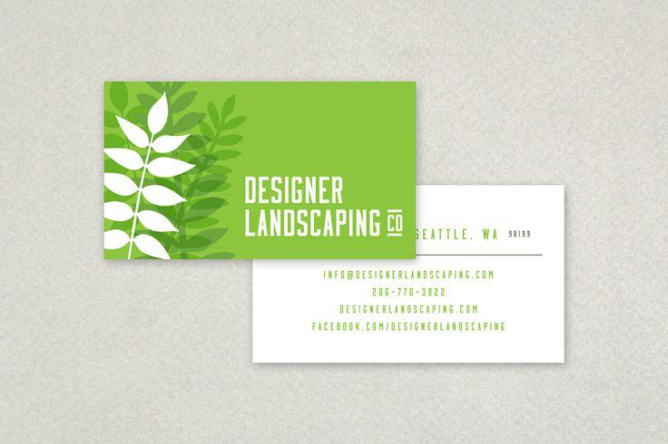 Designer Landscaping Business Card