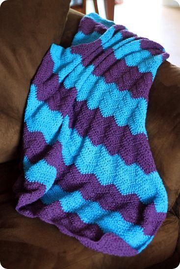 Crocheting The Day Away : Crocheting the Day Away: Chevron Throw Crochet Pinterest