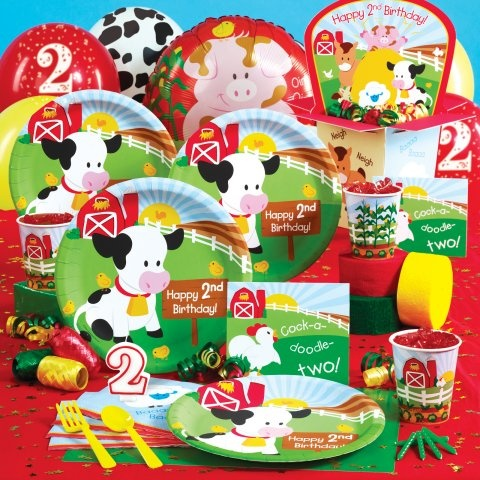 Barnyard 2nd birthday party supplies for 2nd birthday party decoration