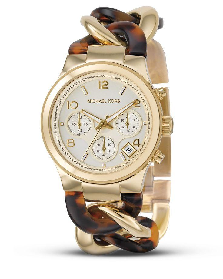 Michael Kors Chain LInk Tortoise Watch  $195