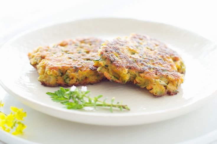 ... Galettes with Fresh Herbs — zucchini, carrots and sweet potato