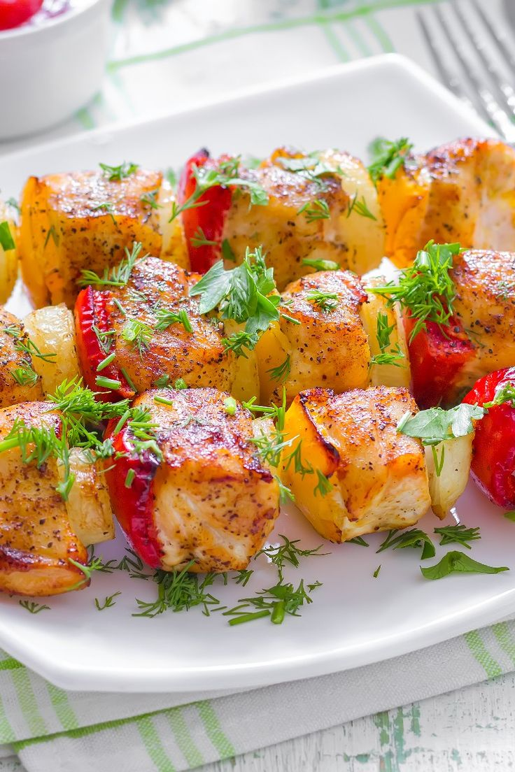 Yummy Honey Chicken Kabobs Recipe | Food | Pinterest