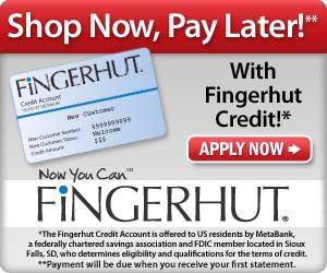 """Fingerhut has put customers first since , offering shop-at-home convenience, doorstep delivery, and a variety of credit options. The Fingerhut motto is """"We say yes when others day no!"""" – bad credit won't keep you from making a purchase at Fingerhut."""