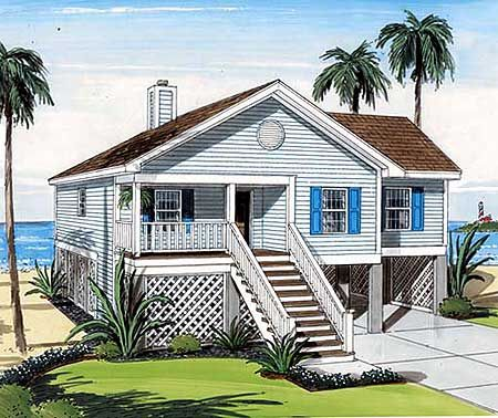 Elevated Waterfront Home Plan