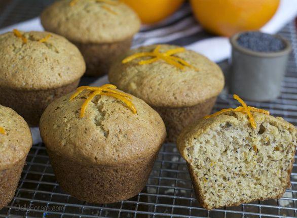 Gluten-free Dairy-free Orange Poppy Seed Muffins ... citrus-y ...