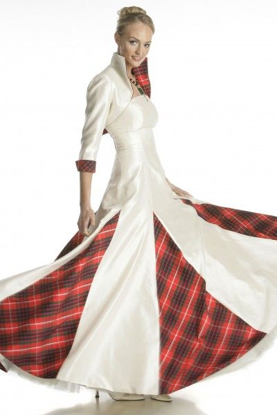 Scottish wedding dress keep calm and wear tartan for Scottish wedding dresses with tartan