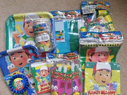 New handy manny birthday party supplies invitations plates for Handy manny decorations