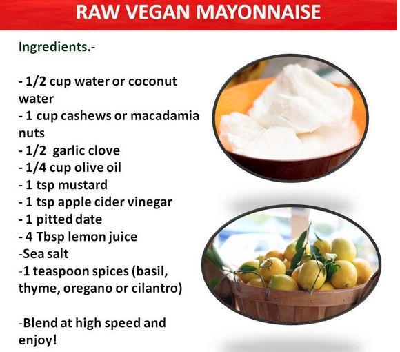 Raw Vegan Mayonnaise   Eat Your Fruits & Veggies   Pinterest