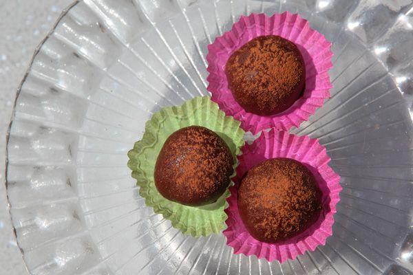 Bittersweet Chocolate Truffles Recipe — Dishmaps