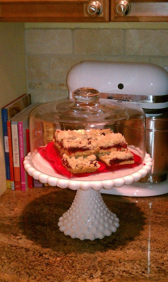 My attempt at Brown Butter Cranberry Streusel Shortbread Bars!! I made ...